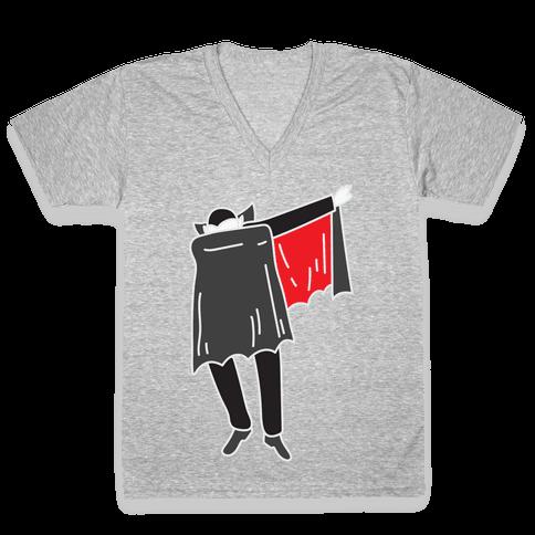 Dabbing Dracula V-Neck Tee Shirt