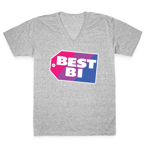Best Bi Parody V-Neck Tee Shirt