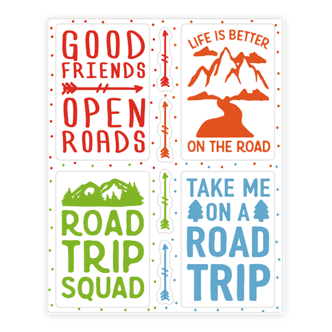 Road Trip Sticker Sheet Sticker/Decal Sheet
