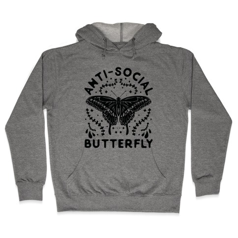 Anti-Social Butterfly Hooded Sweatshirt