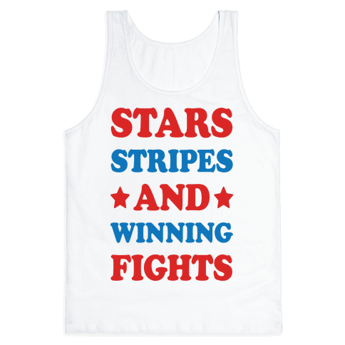Stars Stripes And Winning Fights Tank Top