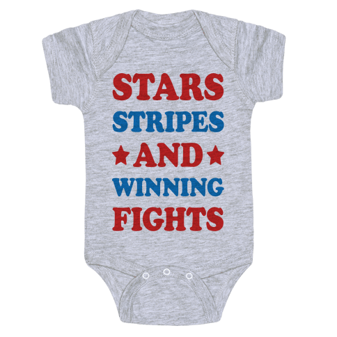 Stars Stripes And Winning Fights Baby Onesy