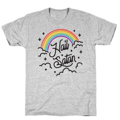 Hail Satan Rainbow T-Shirt