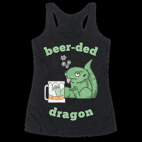 Beer-ded Dragon Racerback Tank Top