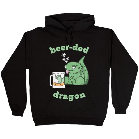 Beer-ded Dragon Hooded Sweatshirt