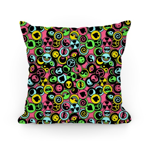 Pogs Collection Pattern Pillow