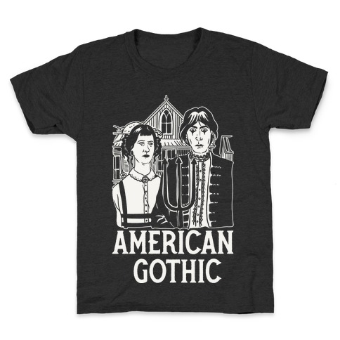 American Gothic Mall Goths Kids T-Shirt