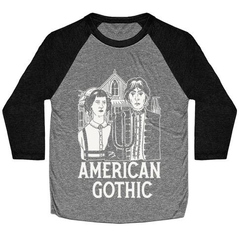 American Gothic Mall Goths Baseball Tee