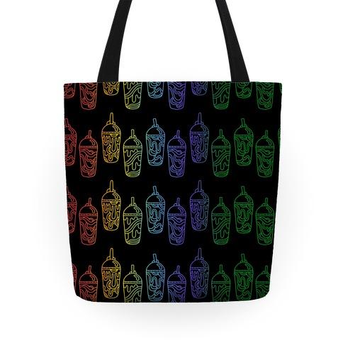 Rainbow Slushie Pattern Tote
