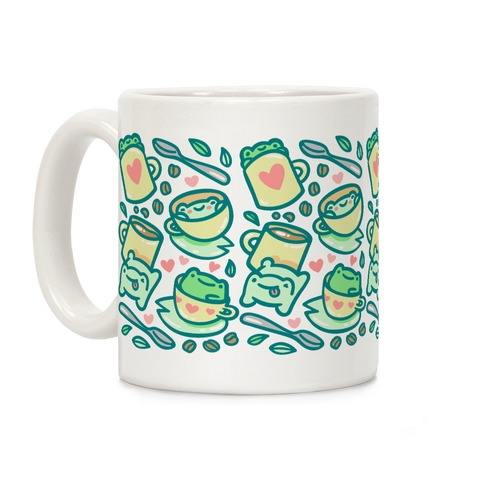 Coffee And Tea Frogs Coffee Mug