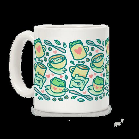 Coffee And Tea Frogs Coffee Mug