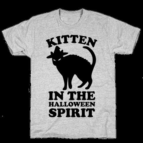 Kitten In The Halloween Spirit Mens T-Shirt
