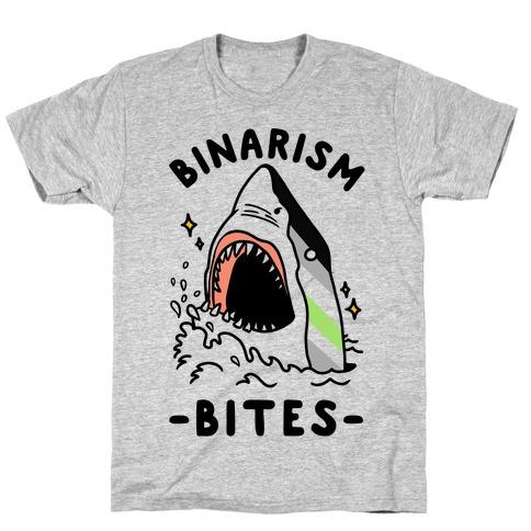 Binarism Bites Agender T-Shirt
