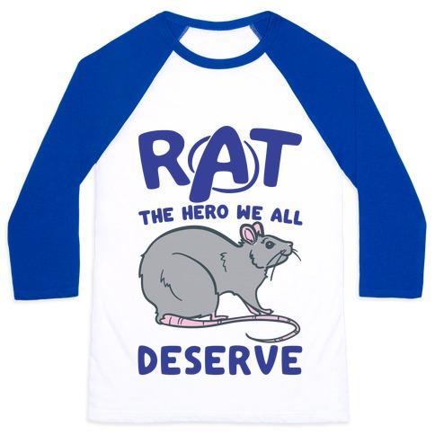 Rat the Hero We All Deserve Parody Baseball Tee
