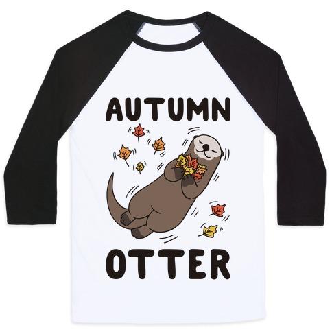 Autumn Otter Baseball Tee