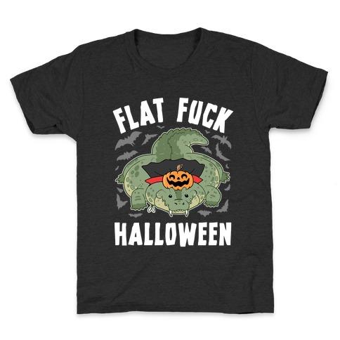 Flat F*** Halloween Kids T-Shirt
