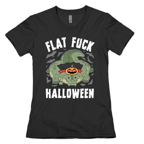 Flat F*** Halloween Womens T-Shirt