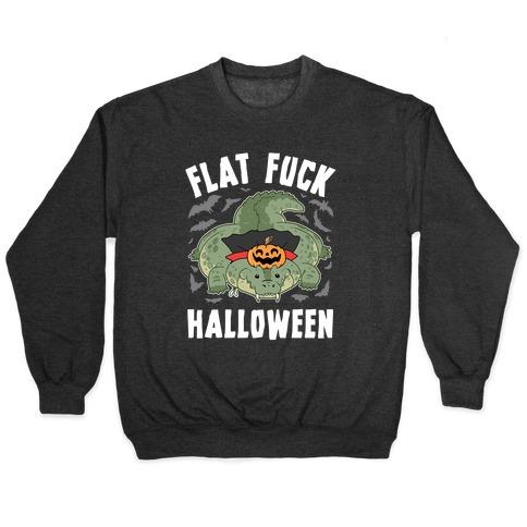 Flat F*** Halloween Pullover