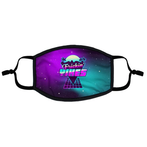 Frickin' YIKES Retro Wave Flat Face Mask