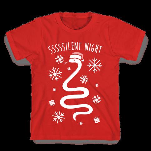 Sssssilent Night Snake Kids T-Shirt