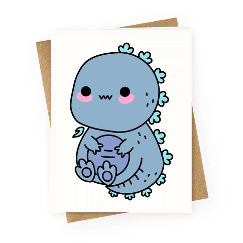 Kawaii Kaiju Godzilla Greeting Card