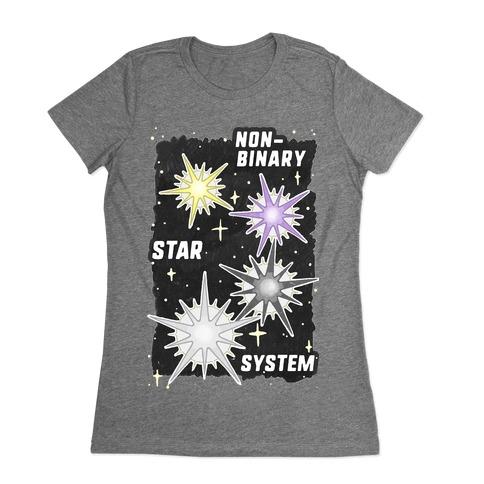 Non-Binary Star System Womens T-Shirt