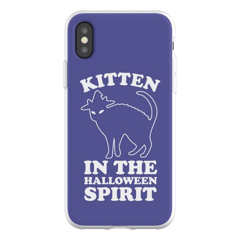 Kitten In The Halloween Spirit Phone Flexi-Case