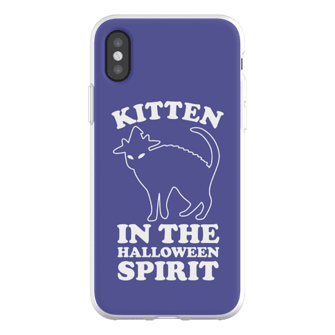Kitten In The Halloween Spirit Phone Flexi-Case