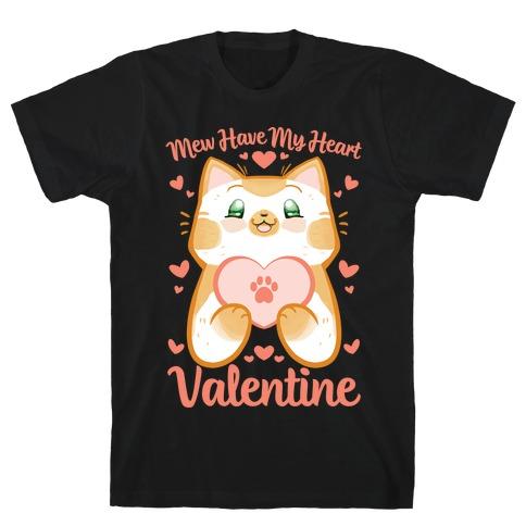 Mew Have My Heart, Valentine Mens T-Shirt