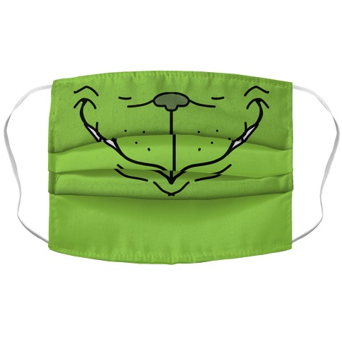 Green Christmas Monster Accordion Face Mask