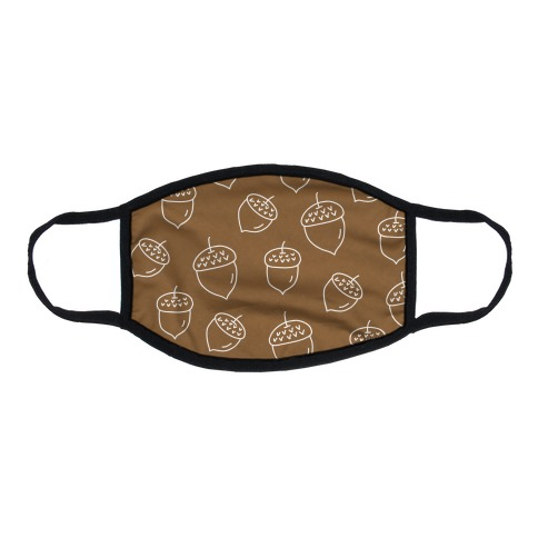Acorn Pattern Flat Face Mask