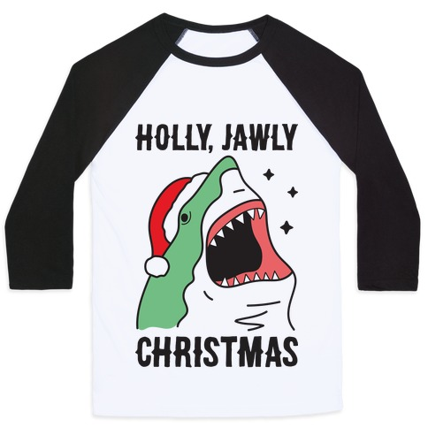 Holly, Jawly Christmas Baseball Tee