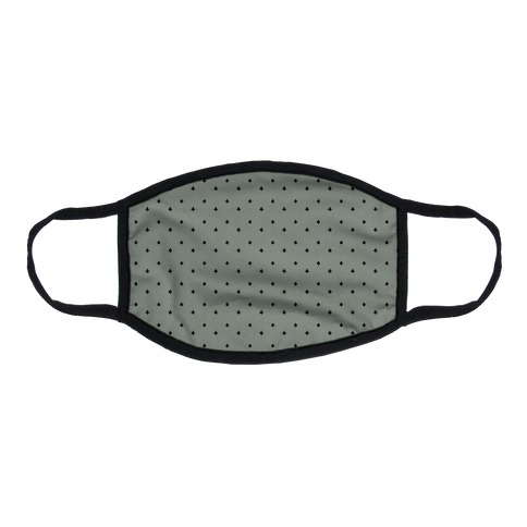 Dainty Stars Pattern Grey Flat Face Mask