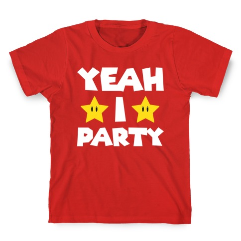 Yeah I Party Mario Parody Kids T-Shirt