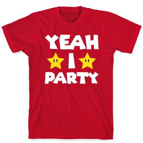 Yeah I Party Mario Parody T-Shirt