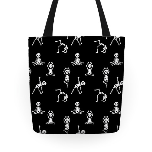 Skele-Zen Pattern - Black Tote