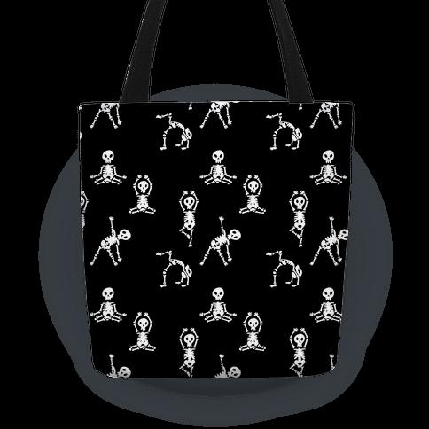 Skele-Zen Pattern - Black Tote