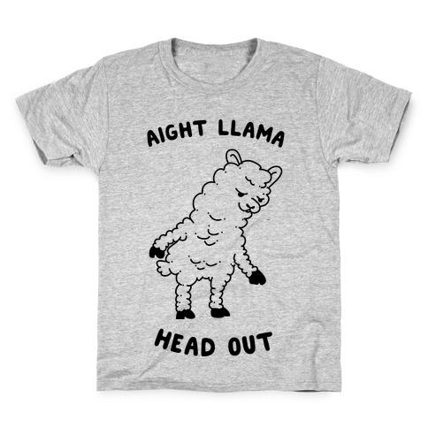 Aight Llama Head Out  Kids T-Shirt