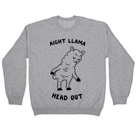 Aight Llama Head Out Pullover