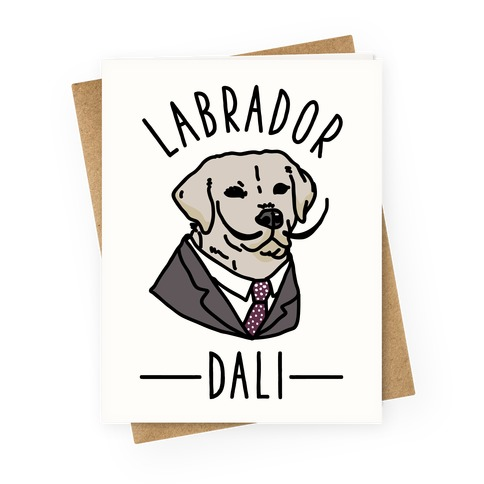 Labrador Dali Greeting Card