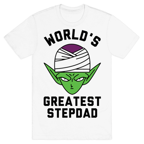 World's Greatest Stepdad Piccolo Parody Mens/Unisex T-Shirt
