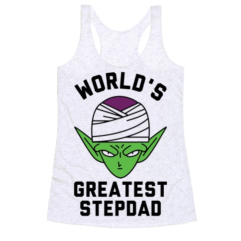 World's Greatest Stepdad Piccolo Parody Racerback Tank Top