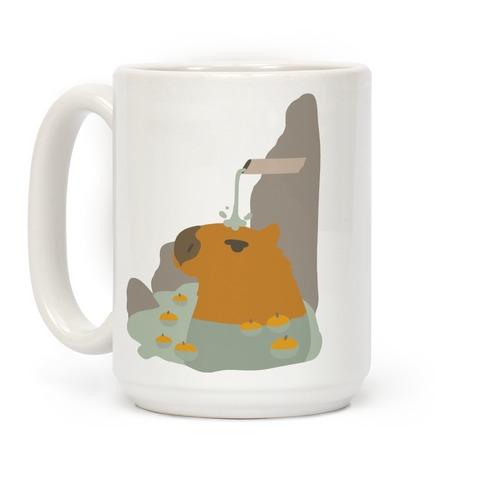 Capybara Hot Spring Coffee Mug