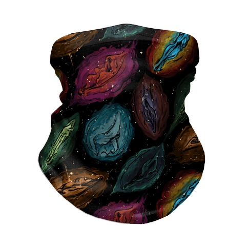 Cosmic Vulva Pattern Neck Gaiter