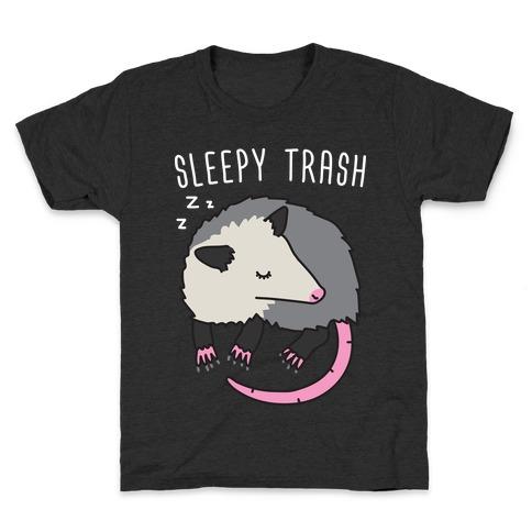 Sleepy Trash Opossum Kids T-Shirt
