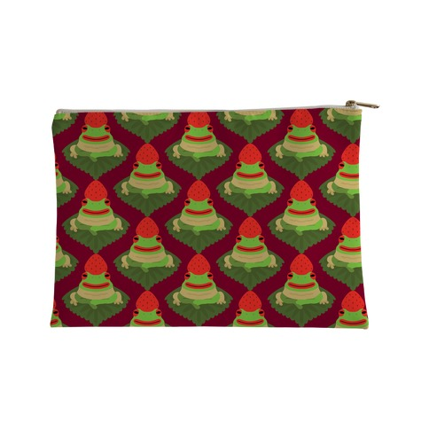 Strawberry Frog Pattern Accessory Bag