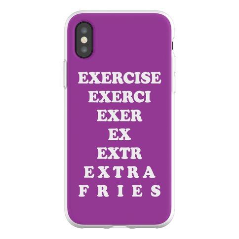 Exercise Extra Fries Phone Flexi-Case