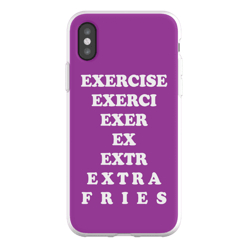 Exercise Extra Fries Phone Flexi-Case