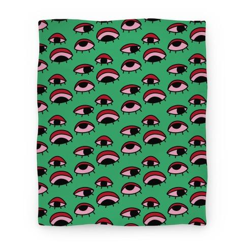 Tired Eyes Pattern Blanket