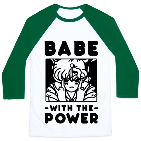 Babe With the Power Sailor Jupiter Baseball Tee